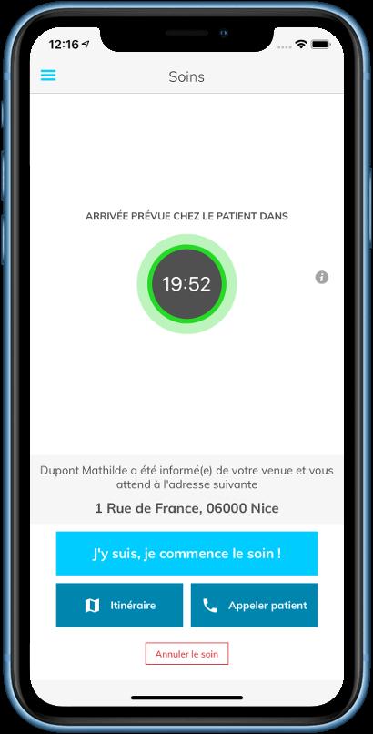 Application Kaducée - Soins infirmier sans RDV en moins de 30 minutes