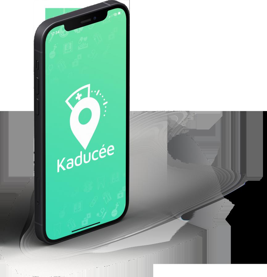 Application Kaducée, disponible sur iOS et Android