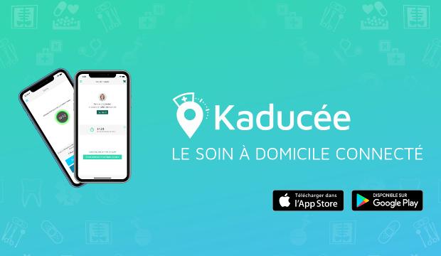 Kaducée disponible en téléchargement sur l'App Store et le Play Store (iPhone et Android) - Infirmière à domicile Carcassonne Narbonne Sérignan Béziers