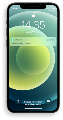 Recevez vos résultats d'analyses biologiques directement sur votre smartphone. Notification en temps réel.